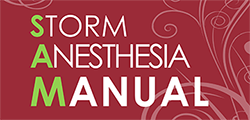 Storm Anesthesia Manual